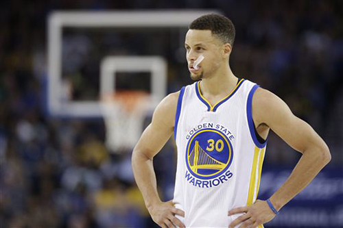 Steph Curry's injury could be a problem for the Warriors down the road, the reigning NBA MVP is looking to win his second straight NBA Title with the Warriors. (Courtesy of the Associated Press)