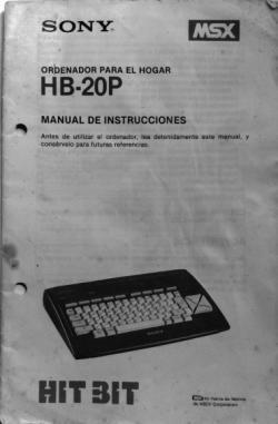 Sony HB-20P - Manual de instrucciones