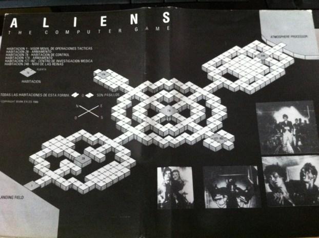 Aliens - Mapa incluido en el juego