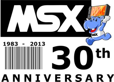 Diseño conmemorativo del 30º aniversario del MSX (inglés)