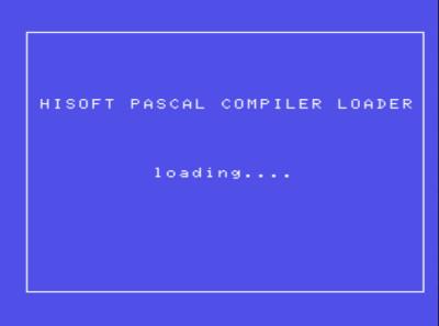 Pascal (Hisoft, 1984) - Pantalla del programa