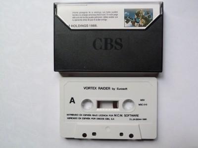 Vortex Raider (Eurosoft, 1988) - Cinta de casete