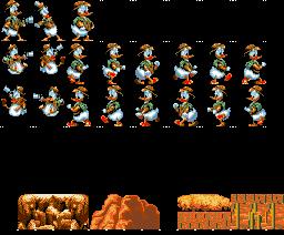 Quackshot MSX (sprite de Donald)