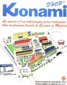 Anuncio de Konami Shop (fuente: MSX Power Replay)