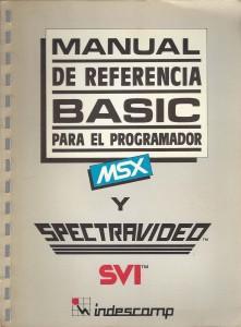 Portada de Manual de referencia BASIC para el programador MSX y Spectravideo