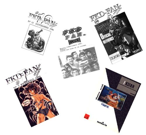 Portadas del fanzine MSX-FAN