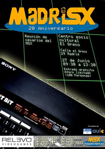 Cartel MadriSX 20 aniversario