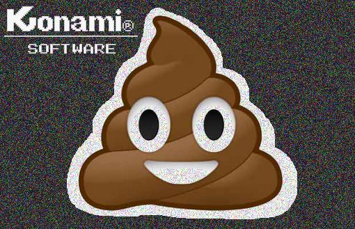 Emoji caca con Konami