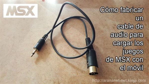 Tutorial de cable de audio MSX