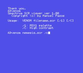 Spectrum SCR viewer
