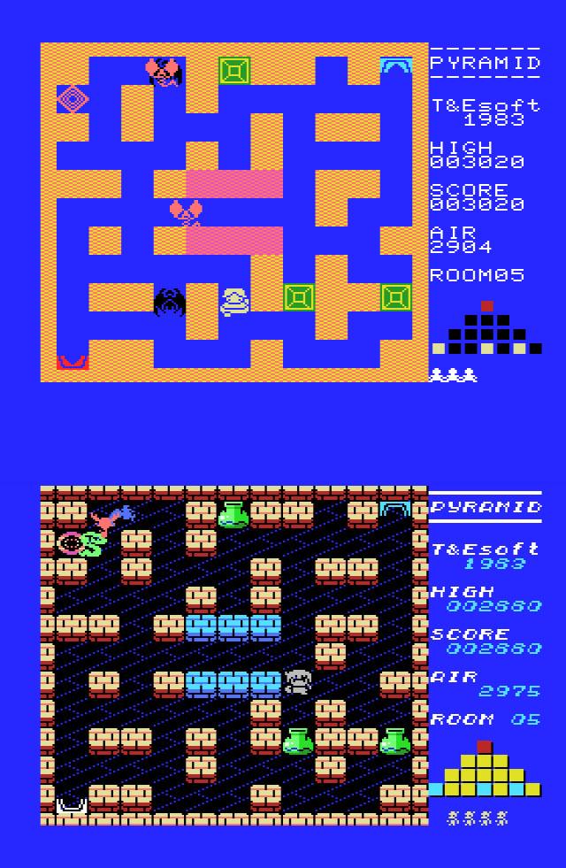 Comparativa de pantallas de Pyramid Warp