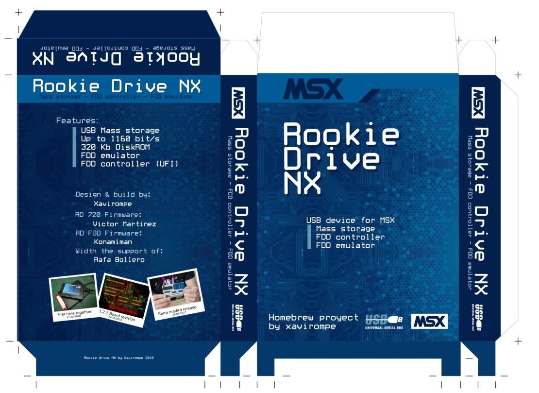 Prototipo de la caja para Rookie Drive