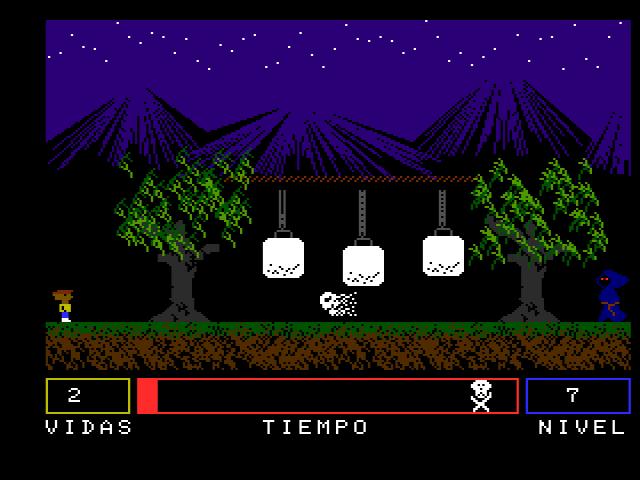 Ghost Park - Pantalla de juego (nivel 7)