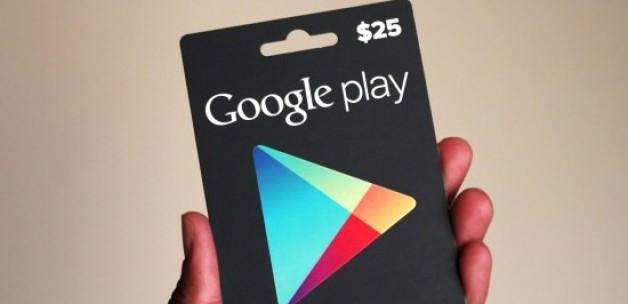Google Play Store Hediye Kartları Türkiye'de