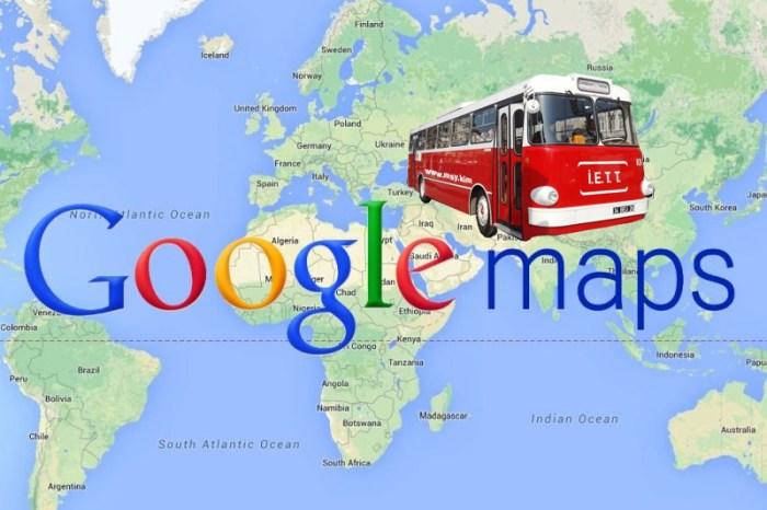 Google Haritalar Üzerinden Otobüs Saatlerini Öğrenme