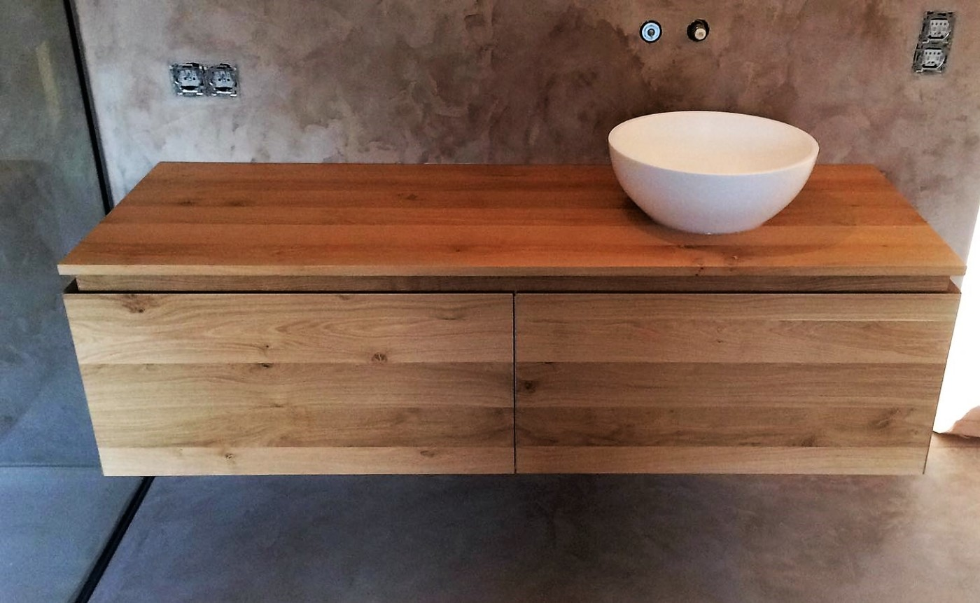 meuble suspendu pour la salle de bains