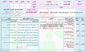 قران كريم تحفيظ ثالث ابتدائي تلاوة - وسائل