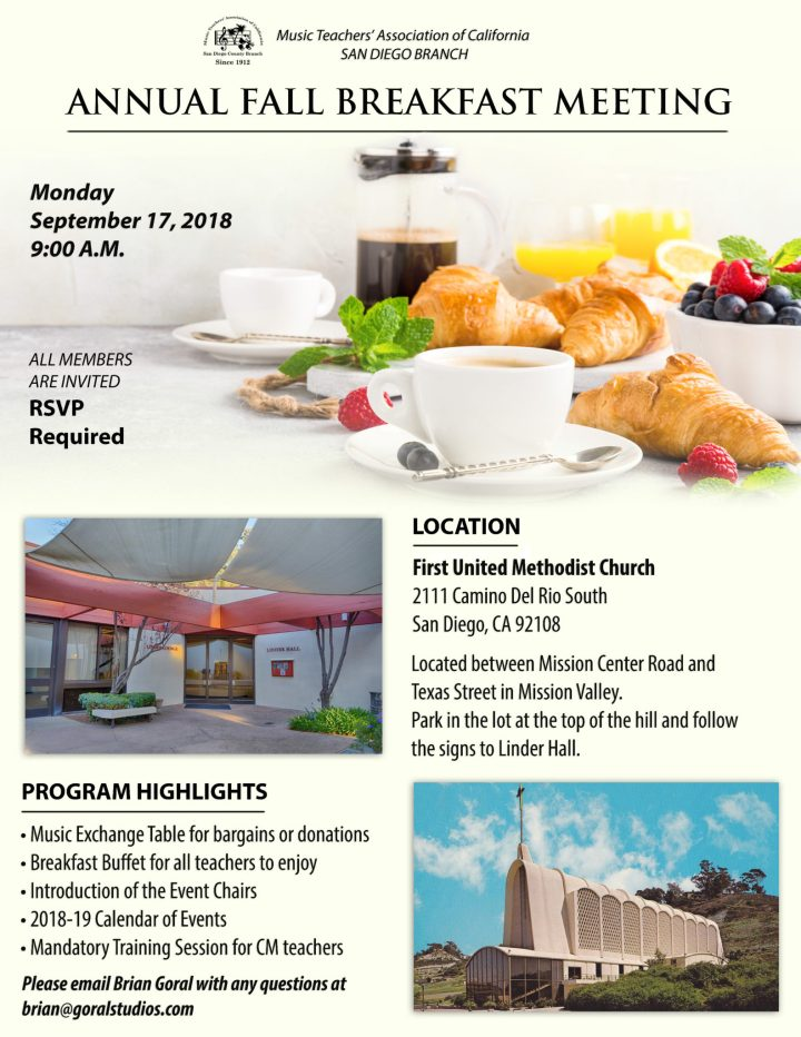 2018 fall breakfast meeting rsvp required