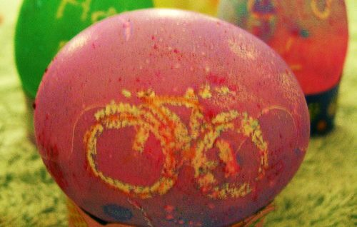 What do you get when you mix kids, bikes, and eggs?