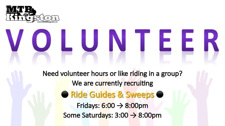 Volunteer with MTB Kingston