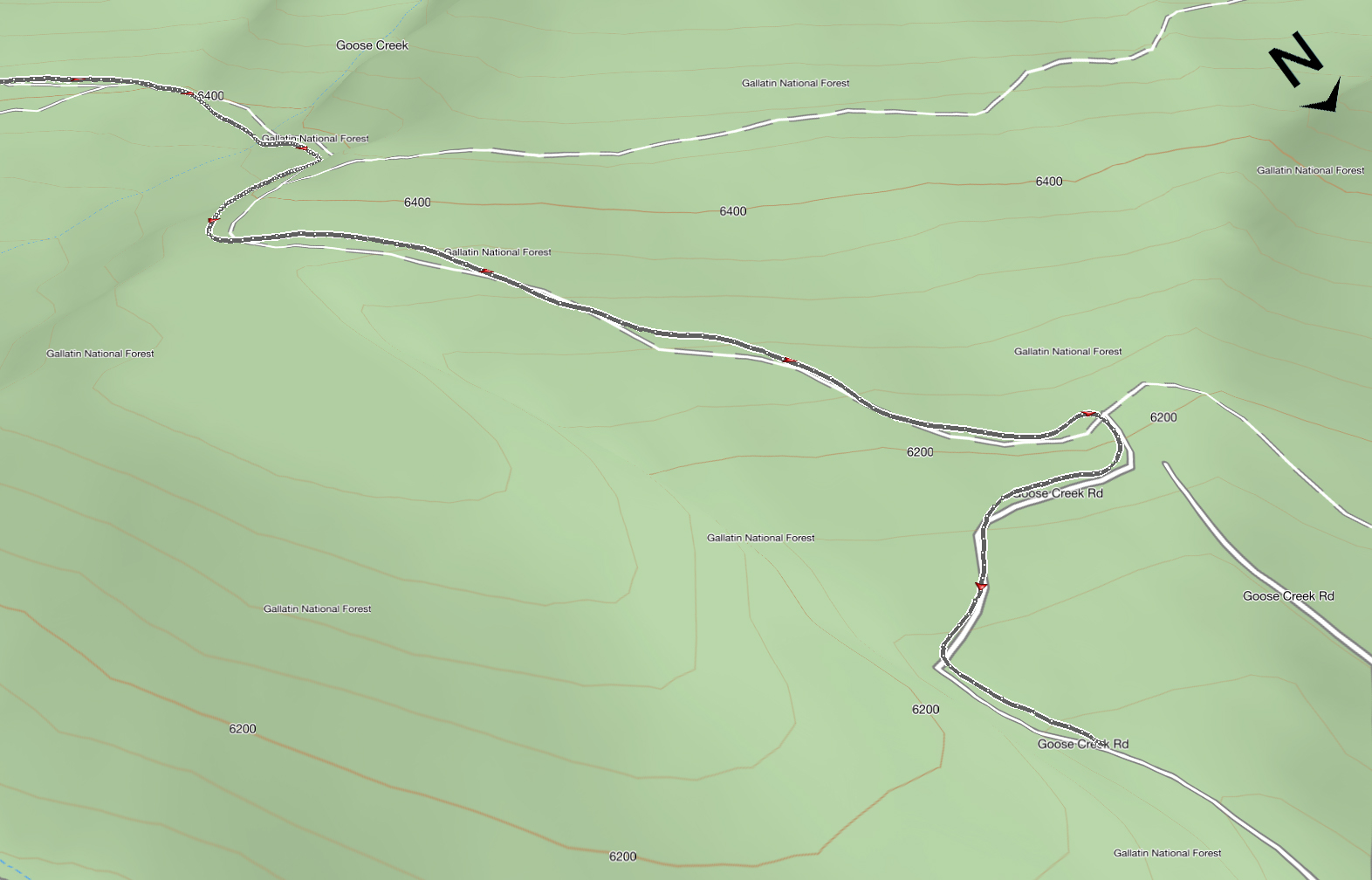 Goose Creek to Chestnut Mountain MTB Trail Maps