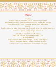 Il menu di Ambra