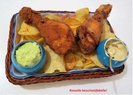 78.Pollo fritto con salsa al formaggio e senape di Rossella