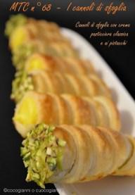 65. Gianni, Cannoli con crema pasticcera classica e ai pistacchi