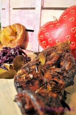 42. stinco affumicato con crauti di cavolo viola al pepe di Bianca