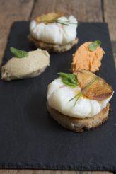 105. tortilla scomposta con cremoso di melanzane e peperoni di Paola
