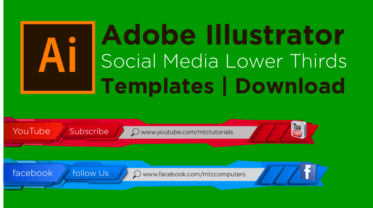 Adobe Illustrator free templates social media mtc tutorials