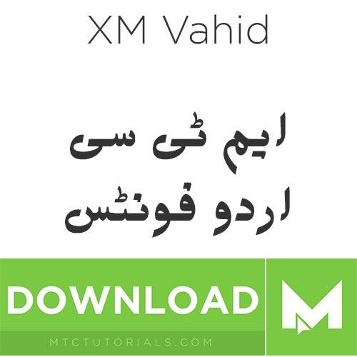 Download urdu fonts XM Vahid