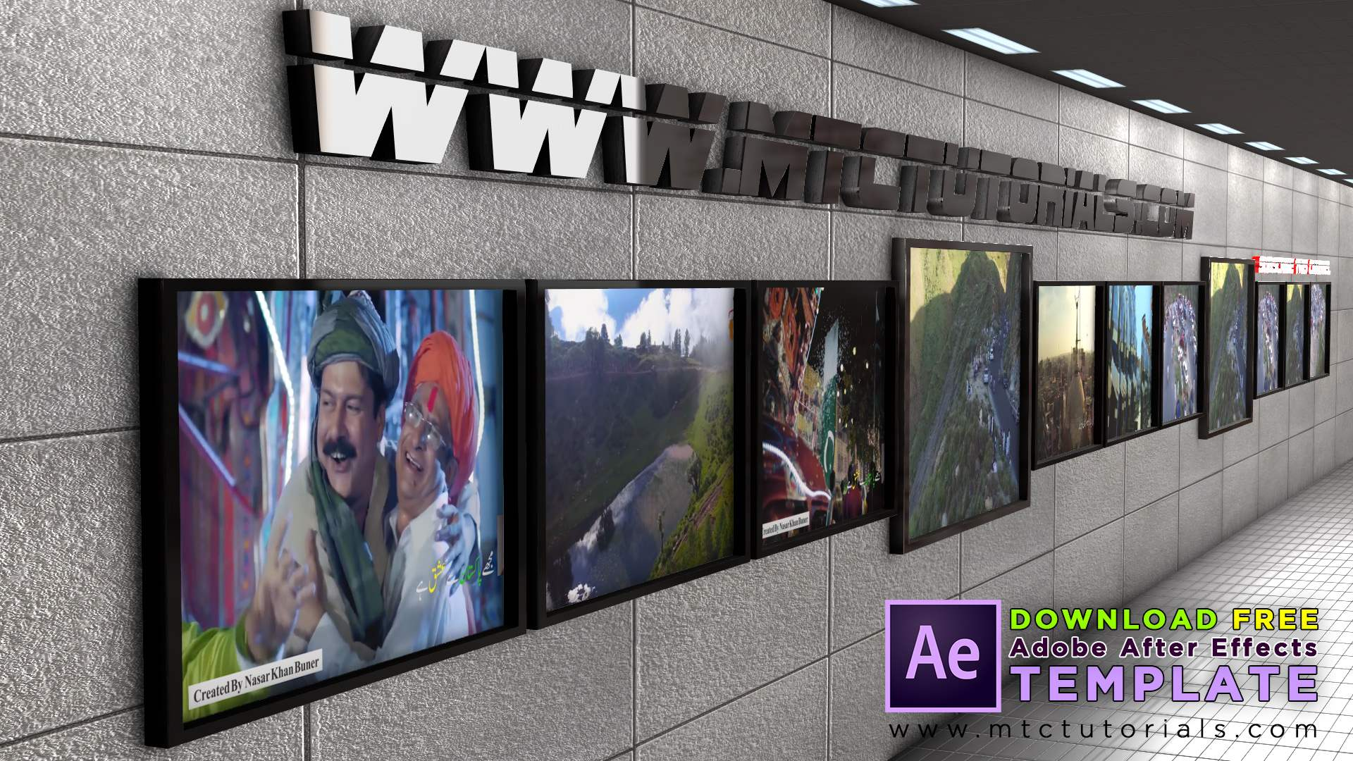 3D Video & Photo Frames After Effects Template