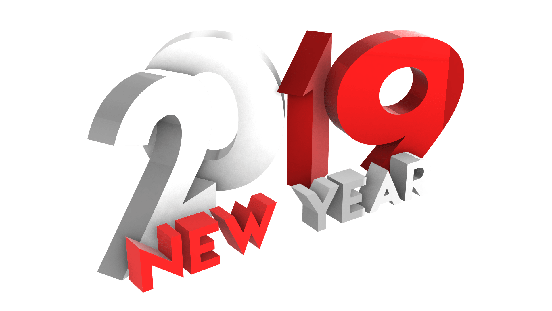 Happy New Year 2019 PNG red and white by mtc tutorials