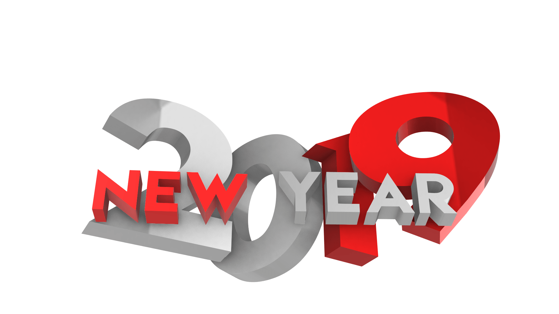 happy new year 3D png