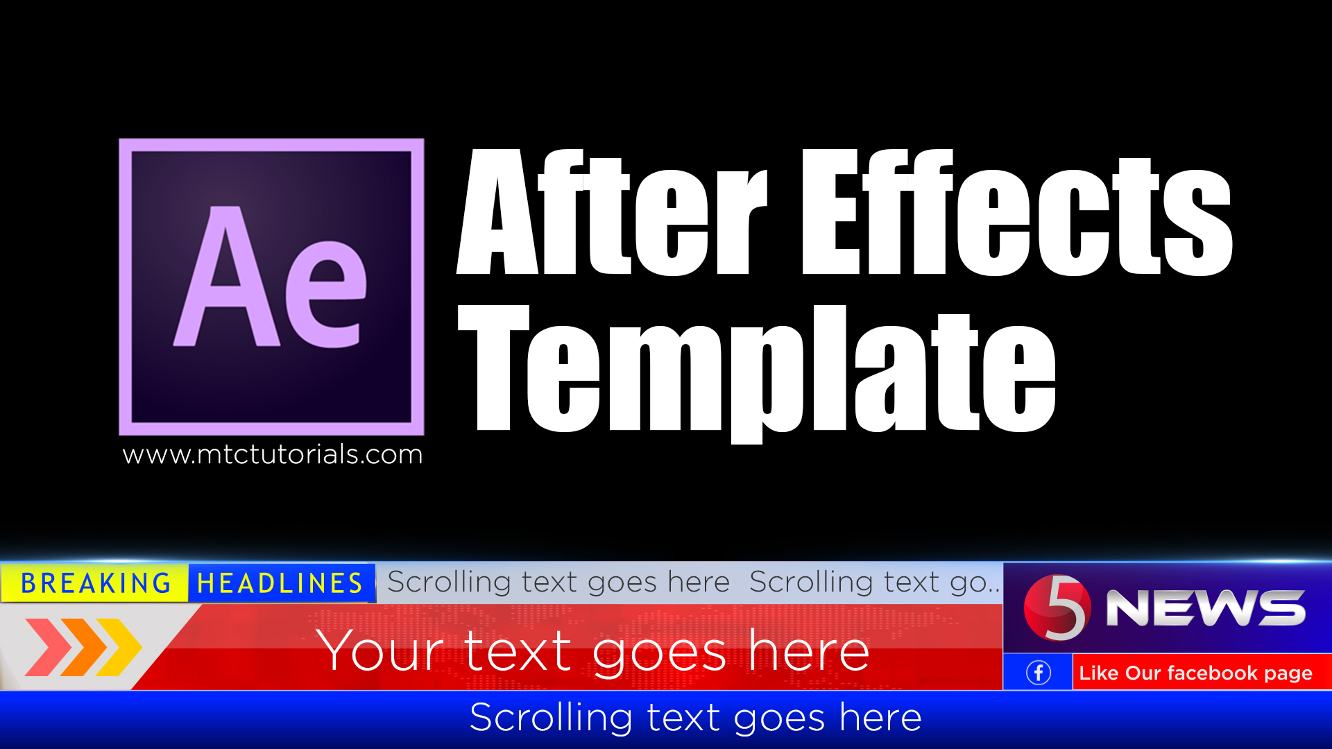 Download After Effects LowerThird Template For News - MTC