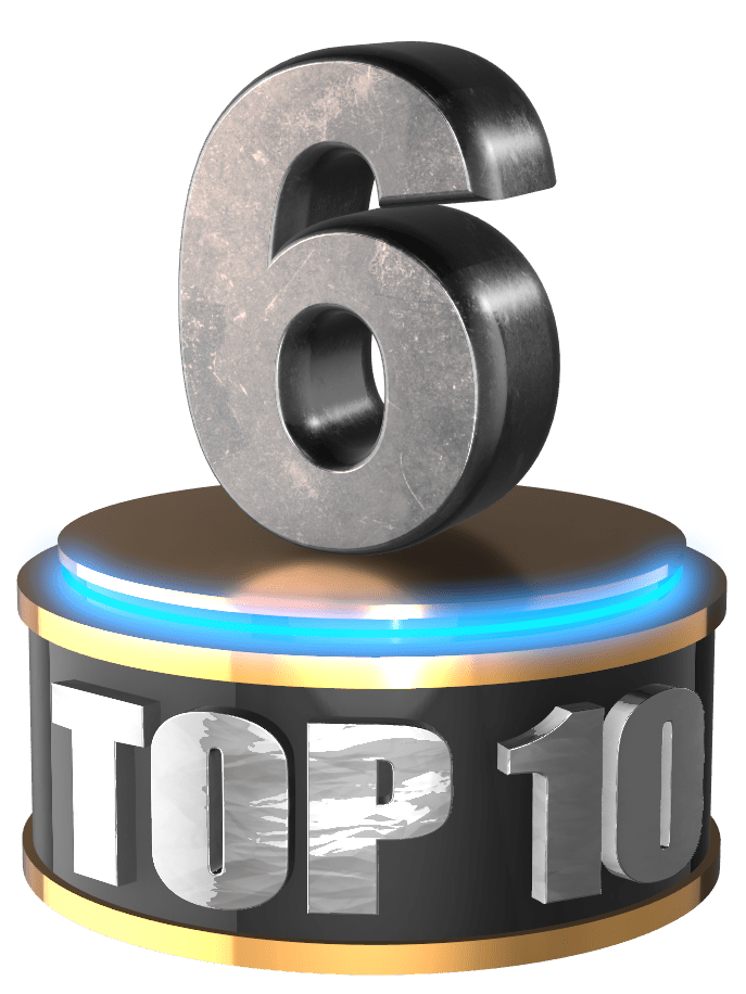 No 10 ten count down 3D numbers free png