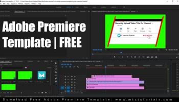 Free Adobe Premiere templates