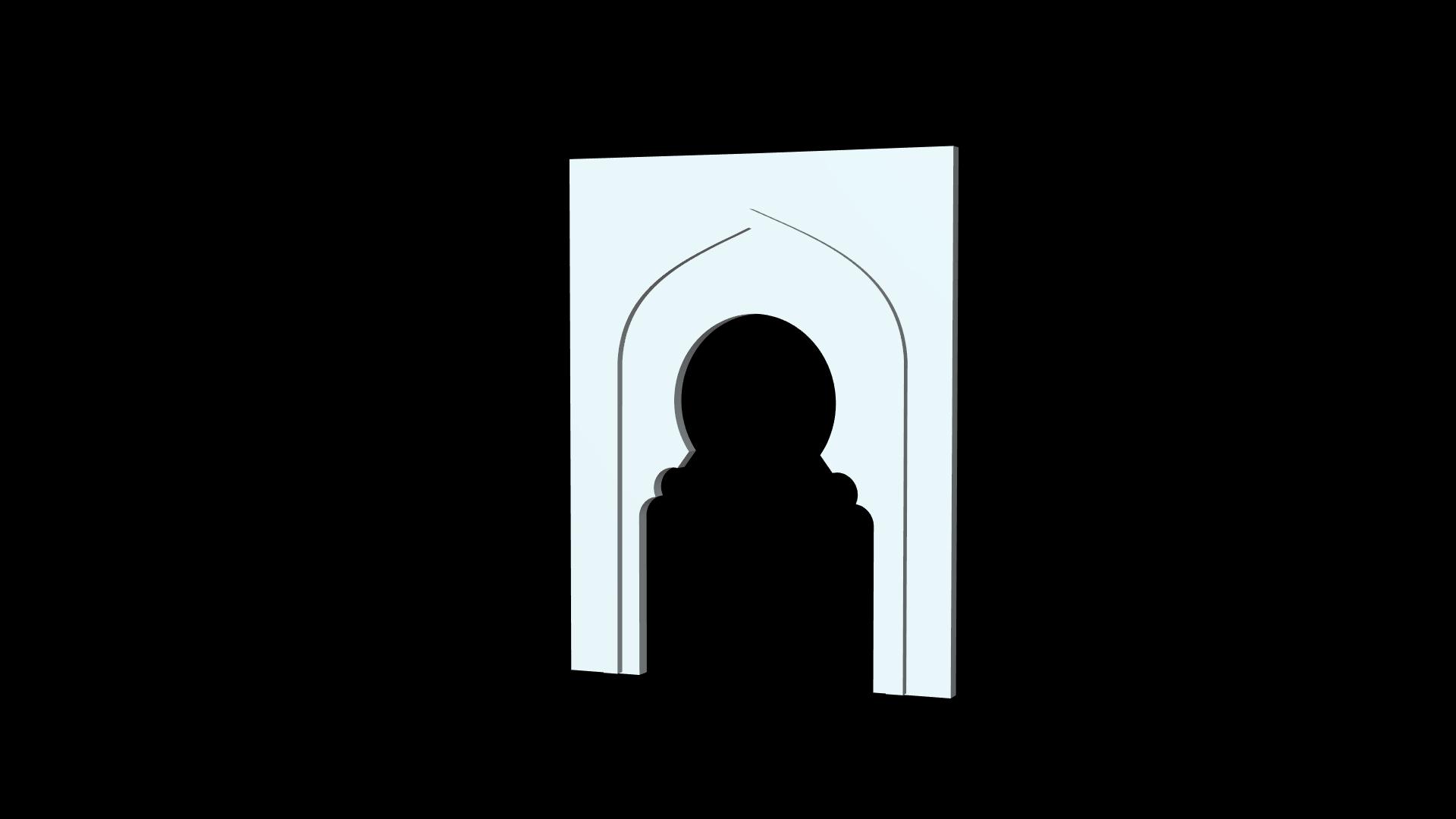 Highly detailed islamic free 3D-model .Obj file - Beautiful Gate frame