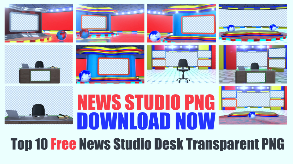 Free news studio png