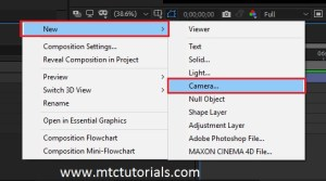 creating cameras in adobe after effects by mtc tutorials