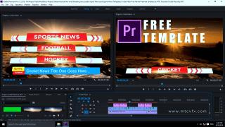 Download free cricket news Adobe Premiere template by mtc tutorials