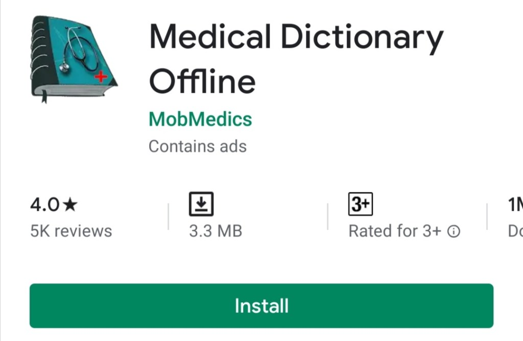 Medical Dictionary Offline free