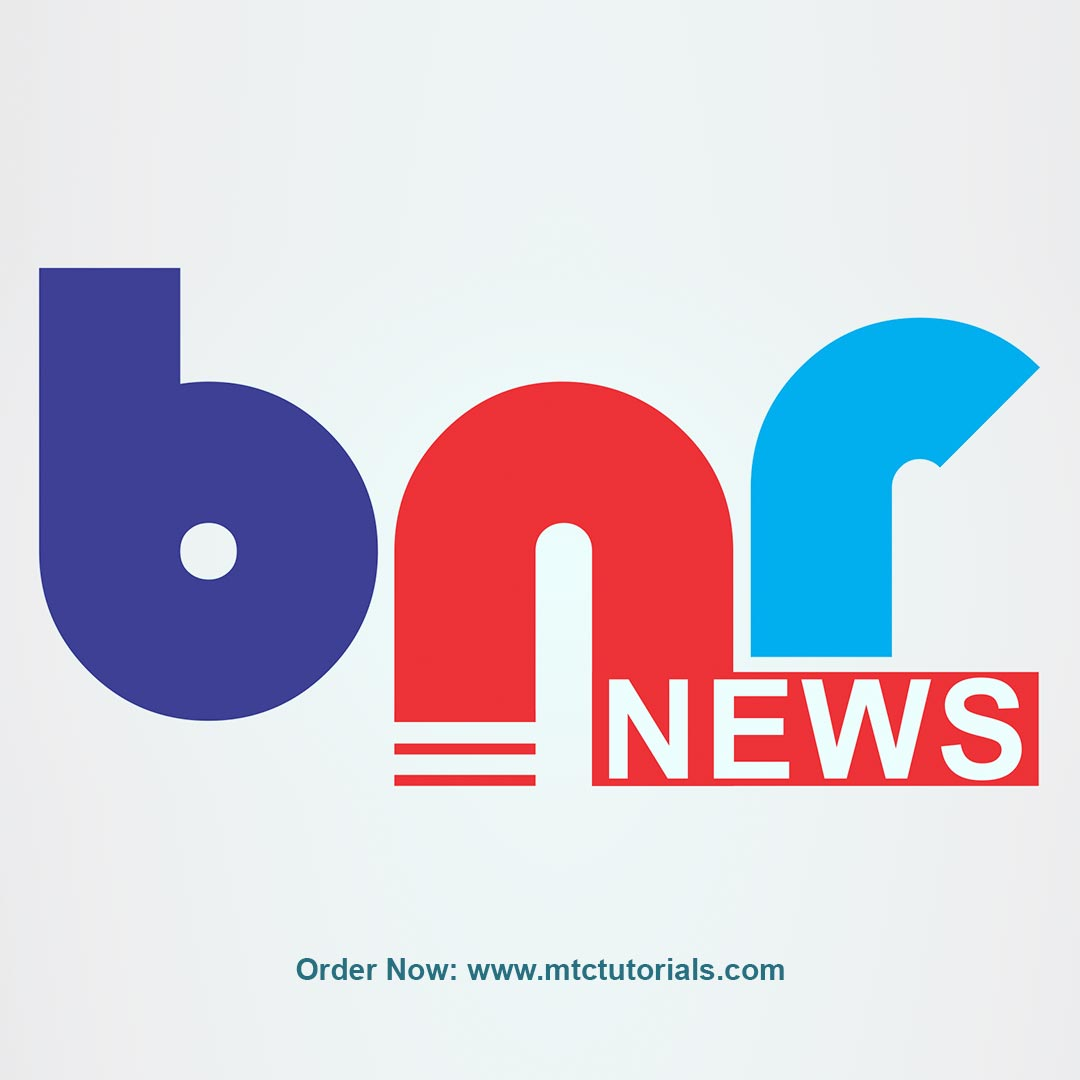 BNR News logo by mtc tutorials and mtc vfx create online logo order now