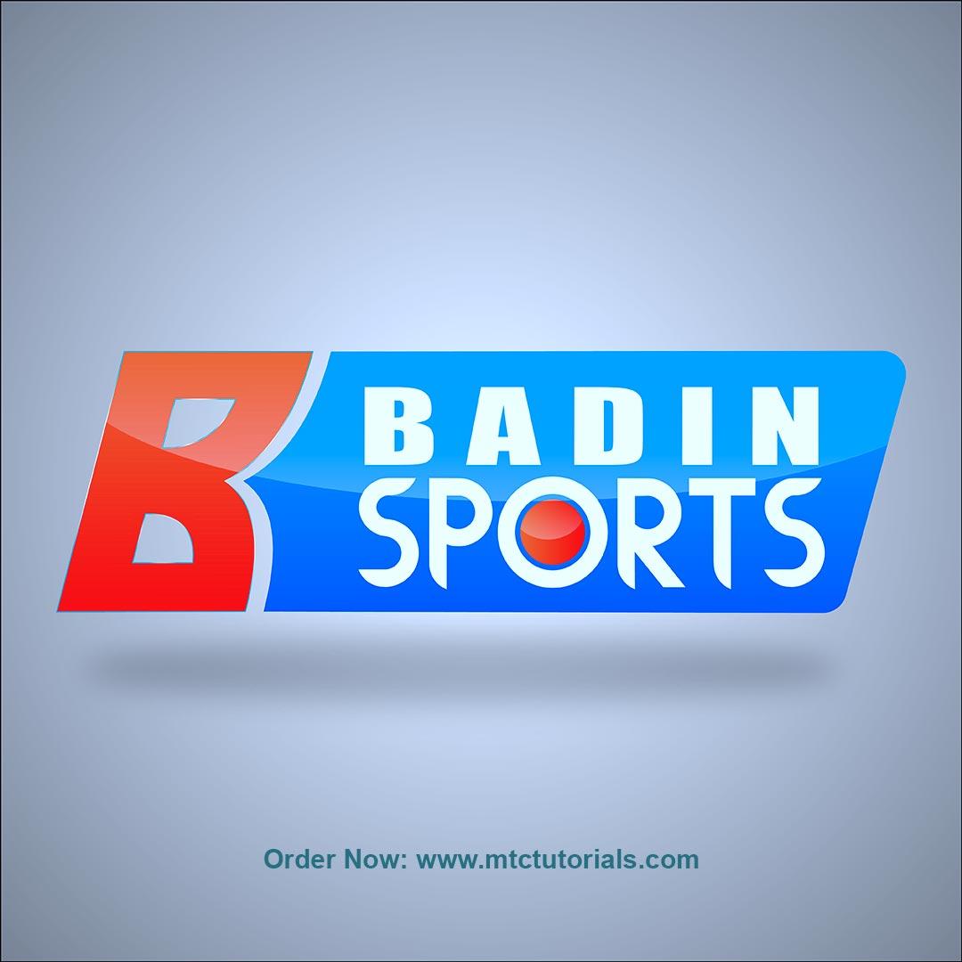 Badin Sports logo by mtc tutorials