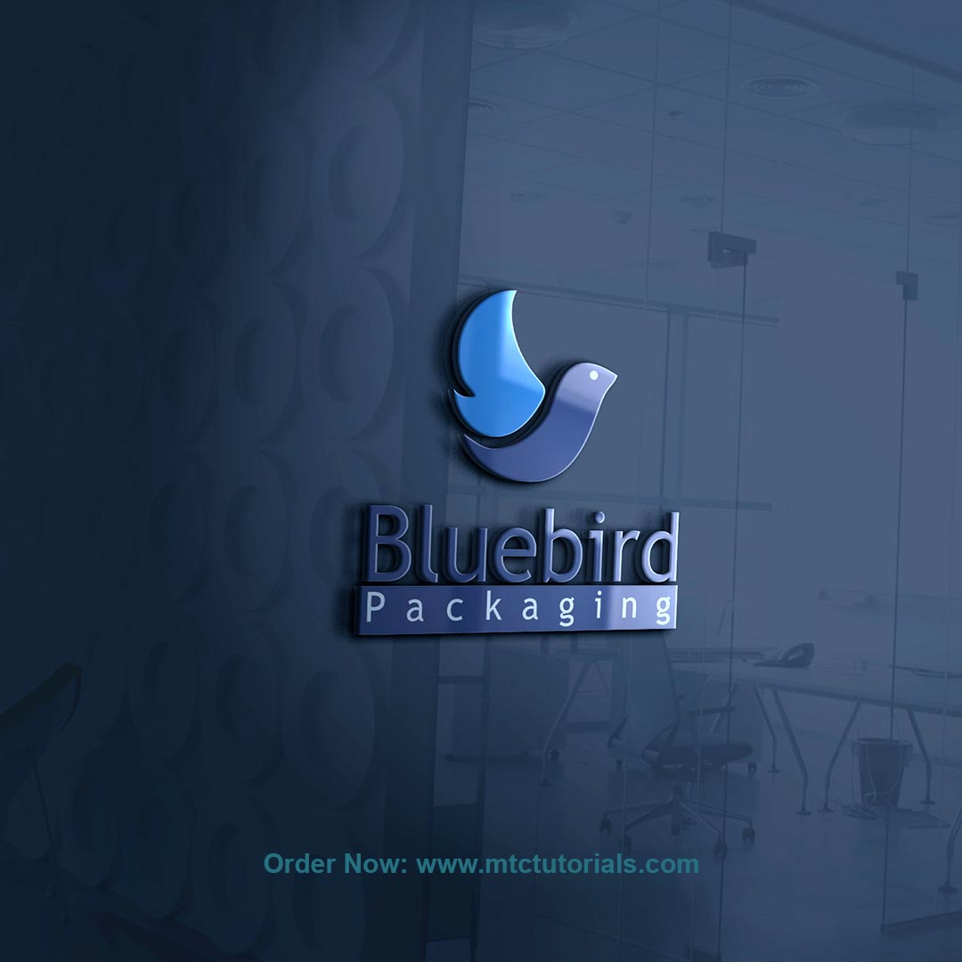 Blue Bird logo and intro by mtc tutorials and mtc vfx create online logo order now