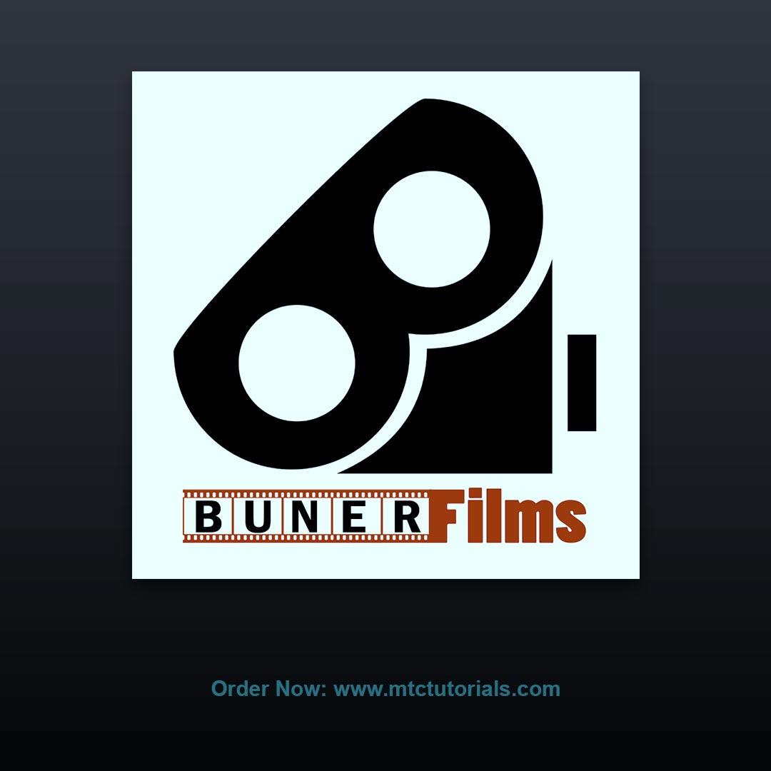 Buner Films logo by mtc tutorials and mtc vfx create online logo order now