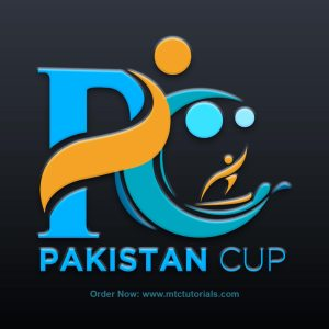 PC logo Pakistan Cup logo created by mtc tutorials and mtc vfx create online logo order now