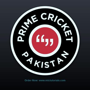 Prime Cricket Pakistan red and black logo by mtc tutorials