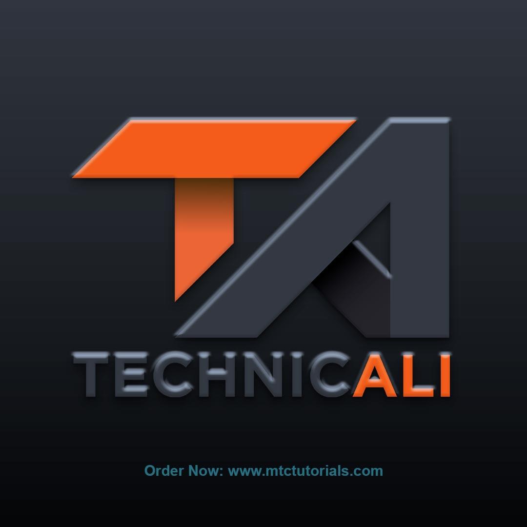 TV logo design by mtc tutorials